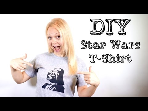 DIY Darth Vader / Star Wars T-shirt