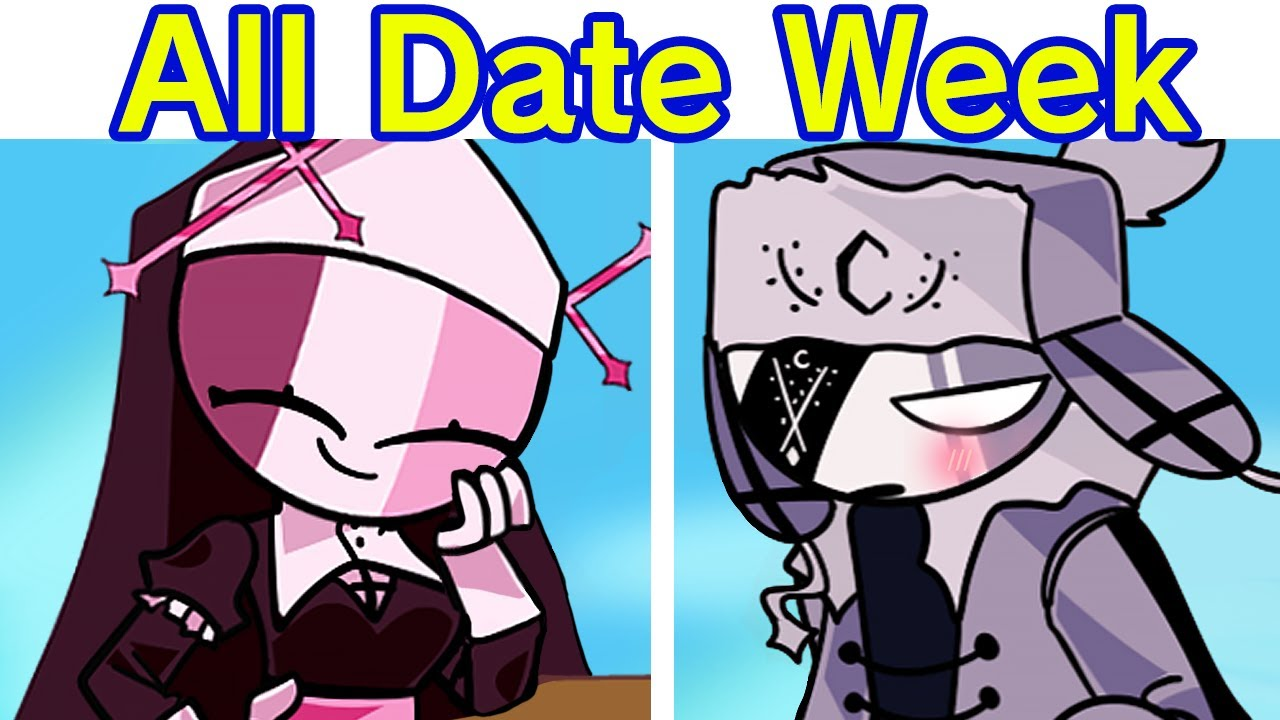 Friday Night Funkin' The Date FULL WEEK (FNF Mod) Carol & Whitty | Sarv & Ruv | Shaggy X Matt & More