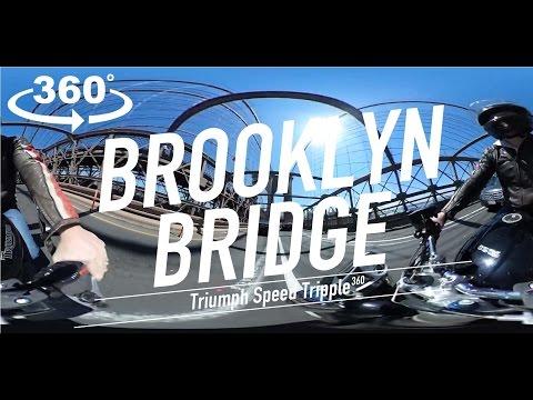 Brooklyn Bridge NYC 360 Triumph Speed Tripple