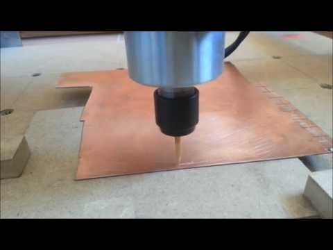 Shapeoko 2 PCB milling, 16mil traces / TQFP package