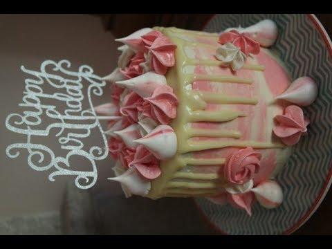 VANILLA LEMON CURD DRIP CAKE RECIPE | EM'S BAKING