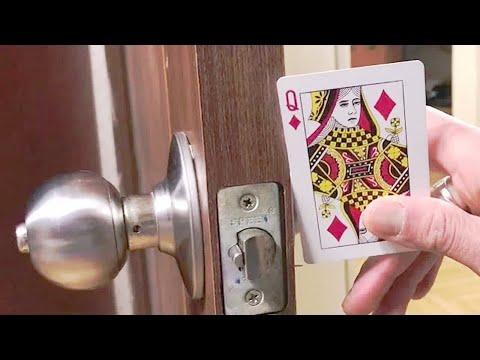 How to Open door lock using Playing Card? (Security Hacks)