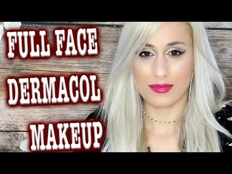 FULL FACE WITH DERMACOL MAKEUP + REVIEWS !!