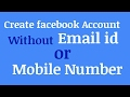 [100% Legal] Create Facebook account without email id or phone number
