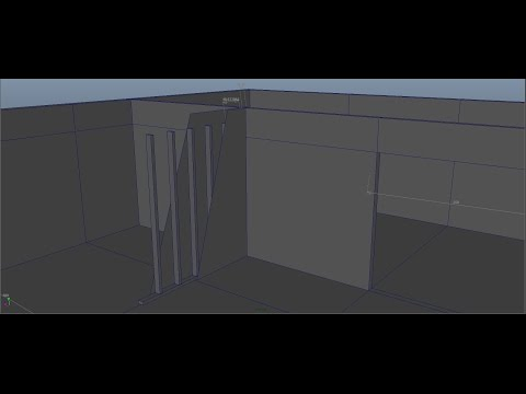 Interior Design  in Autodesk Maya Series 1 [P2 Wall Thickness]