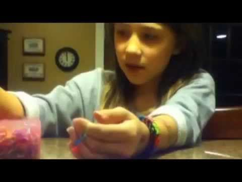 How to make a dragon scale bracelet on your fingers (No Loom)
