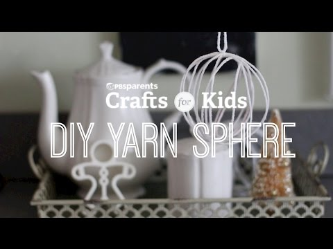 DIY Yarn Snowballs | Crafts for Kids | PBS Parents