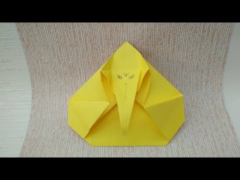 How to Make Paper Lord  Ganesha| Ganpati. Easy Origami DIY Craft Tutorial