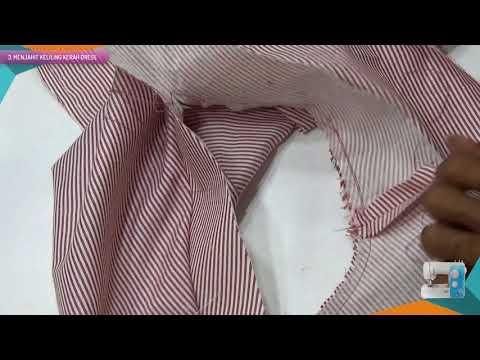 Belajar cara membuat pola baju dan menjahit blus wanitamenggunakan mesin jahit portable BAGIAN 2