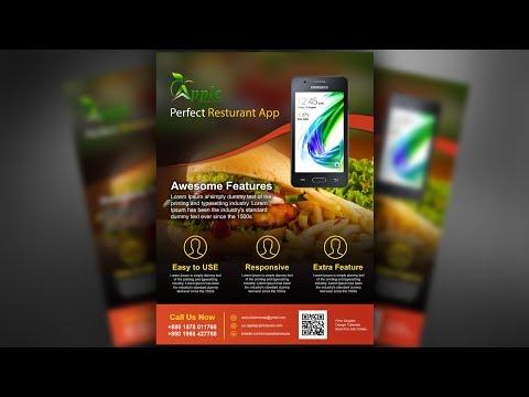 Mobile App Promotional Flyer Design - Photoshop Tutorial