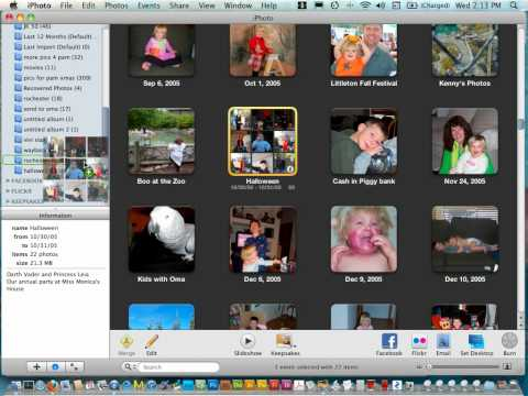 Using iPhoto for Digital Scrapbooking - getting organized