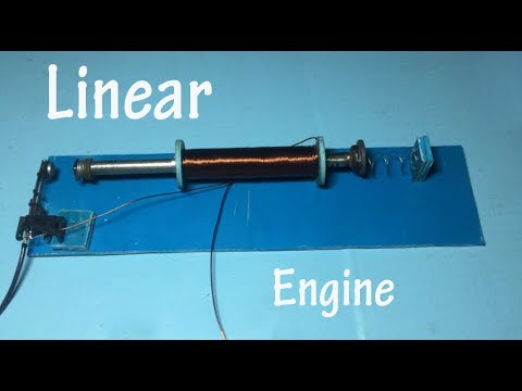 Linear engine ,  How to make linear motor step by step , science school project 2018