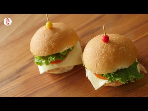 Mini Chicken Burger Recipe By Food Fusion kids