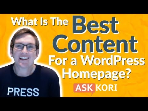 Best Content For Your WordPress Home Page 👍😍