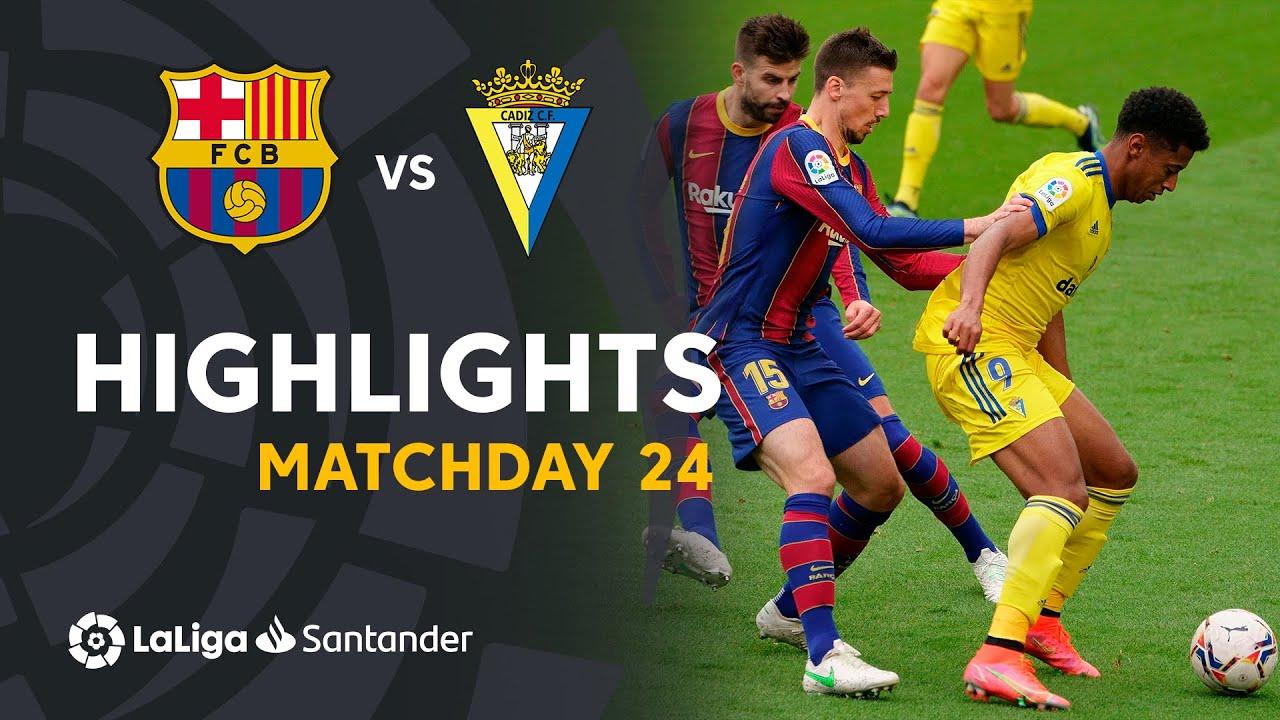 Highlights FC Barcelona vs Cádiz CF (1-1)