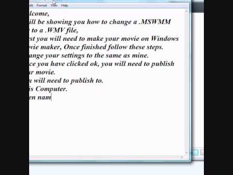 How to change a .MSWMM file to a .WMV file with Windows Movie Maker and upload to youtube Tut