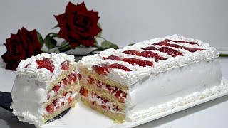 الكيكة الوحيدة التي أعجبت زوجي وشكرني عليها أقل ما يقال عنها روعة 😍😋 بدون قالب