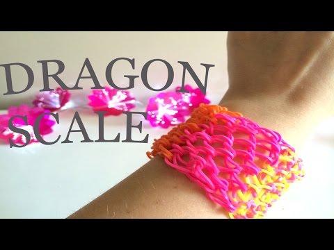 03- Loom Bands Istruzioni chiare per fare un bracciale DRAGON SCALE