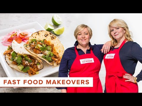 How to Make Over Fast Food Favorites: Shredded Chicken Tacos and Grilled Pizza