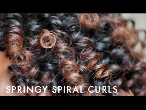 Springy Spiral Curls With Flexi Rods | Natural Hair