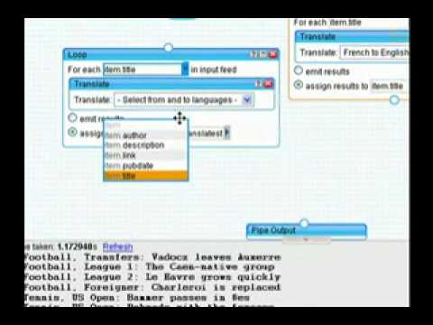 How to Translate a Feed Using Pipes on Yahoo!