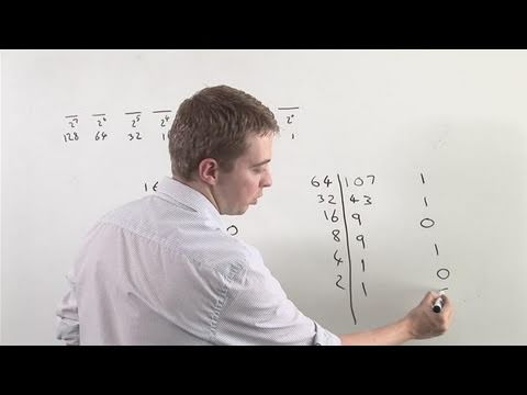 How To Do Decimals To Binary Numbers