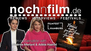 In conversation with Noémie Merlant  & Adèle Haenel   Porträt einer jungen Frau in Flammen