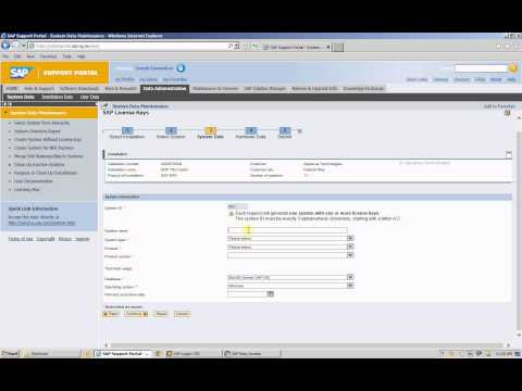 SAP License key Download and Installation