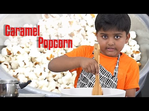 How to make Caramel popcorn at home | candy making | home made popcorn recipe