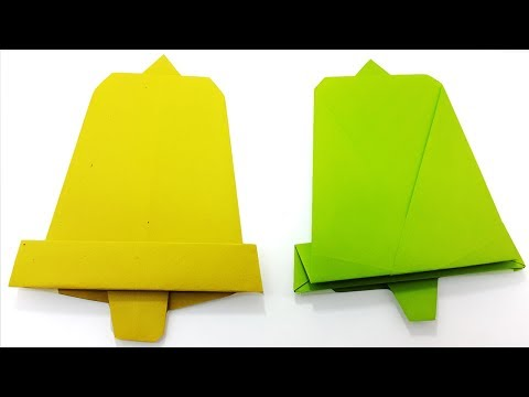 Christmas Origami Paper Bell | Easy Instructions Paper Bell - Christmas Decoration Ideas