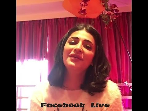 Most beautiful Shruti Hassan Live on Facebook with this fan's Recently