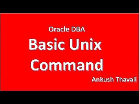 Basic Unix Commmand for Oracle DBA