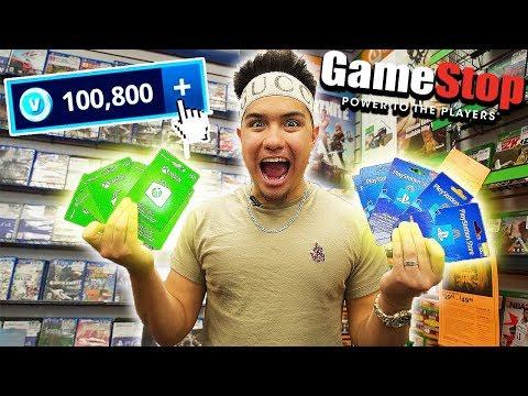 THE $500 V BUCKS GAMESTOP CHALLENGE!!