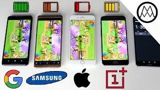 Google Pixel 2 XL vs Galaxy Note 8 vs iPhone 8 Plus- Battery Life Drain Test