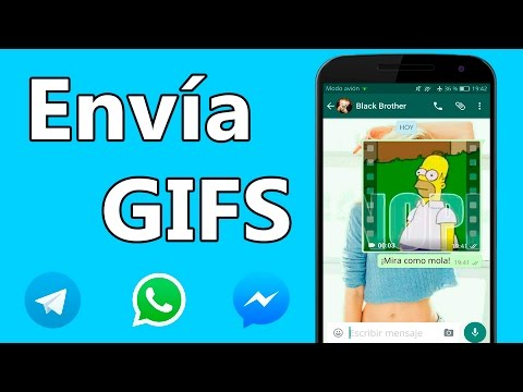 Envia Gifs animados por Whatsapp, Facebook Messenger, Telegram...