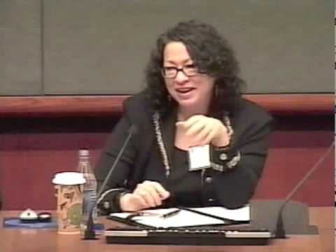 Judge Sonia Sotomayor: Court is Where Policy is Made