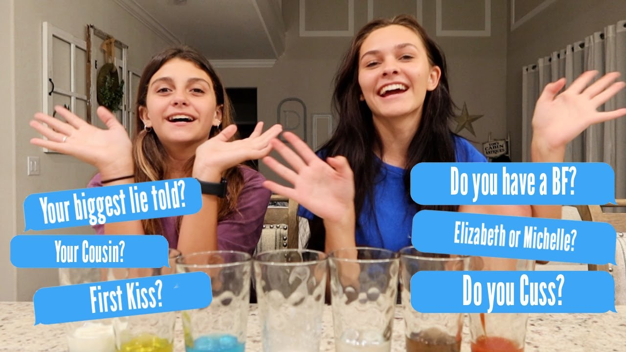 TRUTH OR DRINK IT! THE TRUTH CHALLENGE! EMMA AND ELLIE