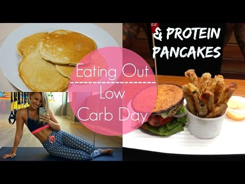 Gluten Free, Low Carb Protein Pancakes | Eating out on Low Carb Day