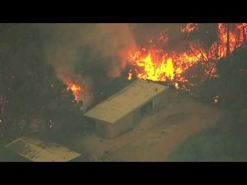 Loma Fire In California Santa Cruz Mountain Like Volcanic Eruption