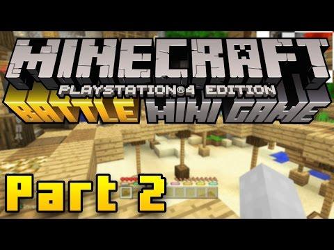 Minecraft PS4 Battle Mode Gameplay Part 2 - SHOWDOWN! (Minecraft PS3, PS4, Xbox, Wii U)