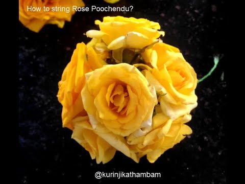 How to string rose garland? How to string rose poochendu?