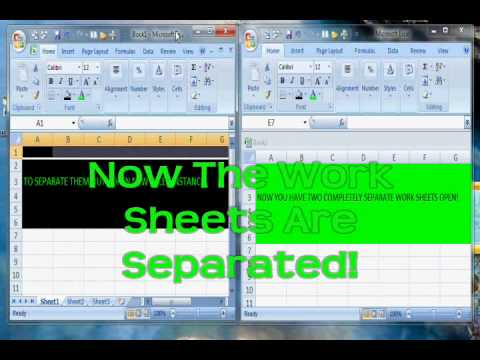 How do I Open 2 Excel WIndows