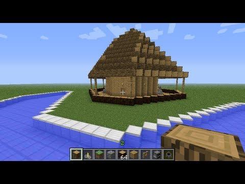 Minecraft building tutorials Ep. 1. Tiki Bar design 1