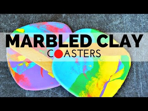 How to Make Marbled Clay Coasters with Plutonium and Scratchpad Cellars