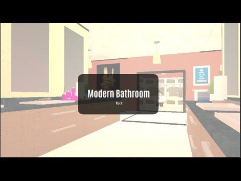 ROBLOX | Bloxburg Room Designs: Modern Bathroom | Ep.2