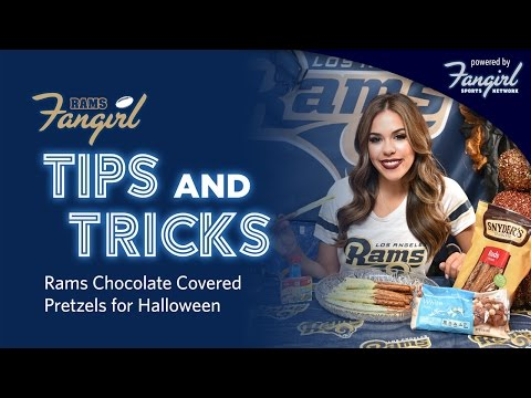 Tips and Tricks: Rams Chocolate Covered Pretzels for Halloween  | Rams Fangirl