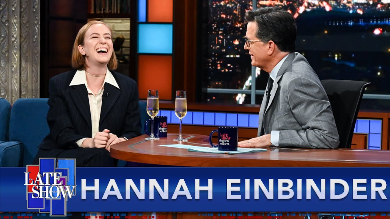 """Comedian Hannah Einbinder Returns To The Late Show, Talks """"Hacks"""" With Stephen Colbert"""