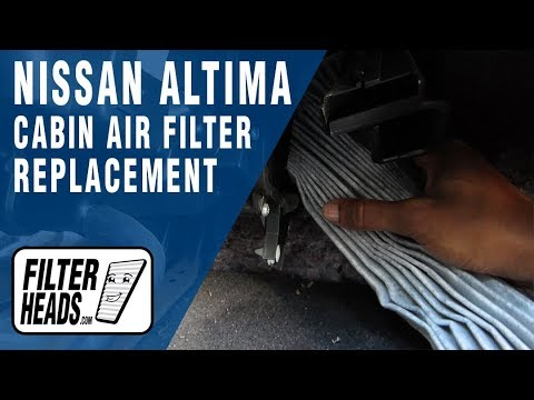 How to Replace Cabin Air Filter Nissan Altima