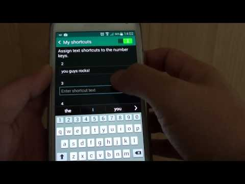 Samsung Galaxy S5: Assign a Sentence of Text to Keyboard Numeric Key as a Shortcut
