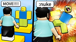 I used Roblox Admin to NUKE EVERYONE in my way..